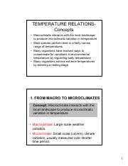 Lecture 4 Temperature Relations-Ecology