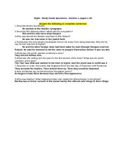 Copy of Night - Study Guide Questions - Section 1, pages 1-20