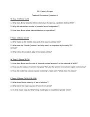 20th Century EuropeTextbook Discussion Questions 1