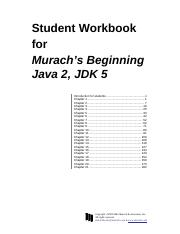 Student Workbook for Murach's Beginning Java 2, JDK 5.pdf