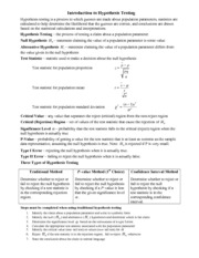 Hypothesis Testing (10)