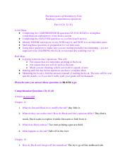 Copy of Huck Finn Part 2 Comprehension and Quotes.docx