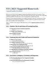 STA 2023 - Suggested Homework