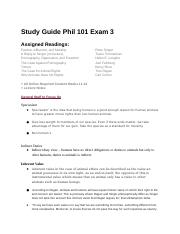 Study Guide Phil 101 Exam 3 (1).docx