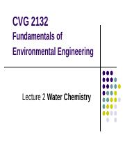 Lecture2a-Water Chemistry