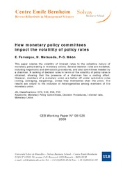 How monetary policy committees impact the volatility of policy rates