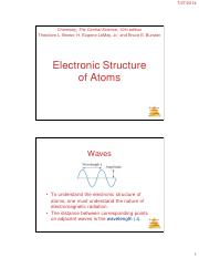 CHM11-3 Lecture on Electronic Structure of Atoms