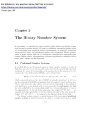Lecture 01+02, The Binary Number System EGR234