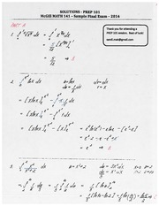 Math141ExamPackageSolutionsDec2014