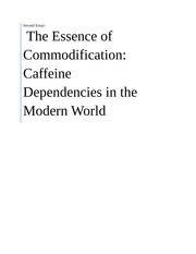 HIST1400 Assignment 2 - Commodification of Caffeine