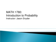 MATH 1780 Lecture Notes Chapter 2 Section 2