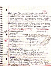 Nutrients, proteins, lipids, carbs notes