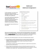 StatCrunch_Assignment 3 completed