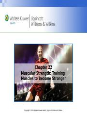 Chapter22-Training for Muscular Strength