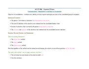Notes Ch 3 - Consolidaitons - Subsequent to the Date of Acquisition