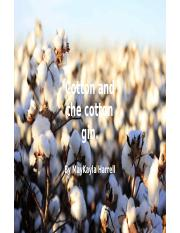 Cotton and the cotton gin. (4).pptx