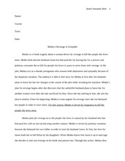My Hobby Essay In English  Pages  Essay Medea Euripides Sample Essay With Thesis Statement also Interesting Essay Topics For High School Students Medea Analytical Essay  It Is Easy To See Medea As A Betrayed Wife  High School Narrative Essay Examples