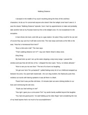 Non Fiction- Essay- Walking Distance 1st person Final draft