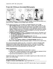 annotated bibliography assignment sheet Annotated bibliography assignment sheet annotated bibliography for assignment 2 writing assignment 2 - annotated bibliography (5) partial annotated bibliography for.