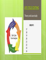 Group_03_Life Cycle Costing