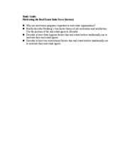 Study Guide (motivating the sales force.doc; lecture)
