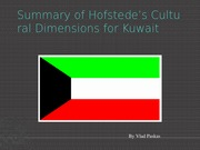 Hofstede's Cultural Dimensions for Kuwai