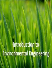 Introduction to Environmental Engg