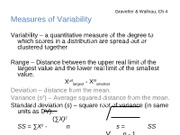 Ch 4 Measures of Variability