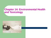 ES Chapter 14 Environmental Health and Toxicology
