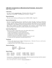 Syllabus ISE 2204 Introduction to Manufacturing Processes-2