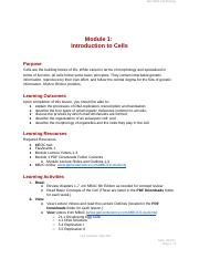 Biol 4004 Module 1 Overview Introduction to Cells.docx
