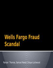Wells Fargo Fraud Scandal lockwood part and updated