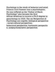 Psychology is the study of behavior and mind.docx