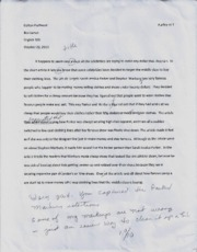 Essay 3 and 4
