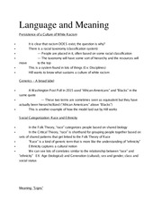 Ling 370 Ch 2 Language and Meaning Outline