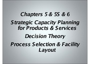 Chapters 5 & S5 & 6 Lecture Power Point Slides