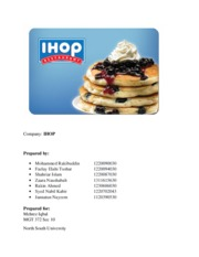 IHOP project