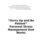 MGNT 3130 Assignment #2 - Full Stress Booklet (1).doc