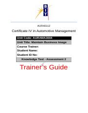 Knowledge Test - Assessment 2 - Trainer's Guide.docx