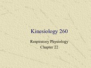 Kinesiology 260 Class Notes Respiratory