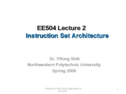 L2_Instruction Set Architecture