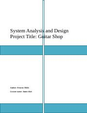 System Analysis &  Design Task 1.docx