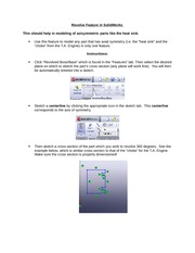 Solidworks Notes