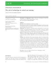 Role of tech in critcal nursing care.pdf