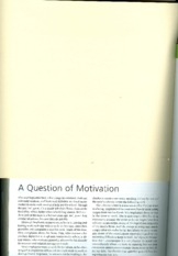 A Question of Motivation(1)