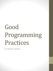 GoodProgrammingPractices