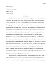 Research paper Breast Cancer