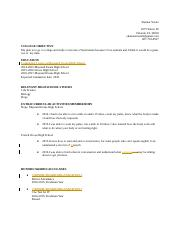 S, Stoute Academic Resume Template