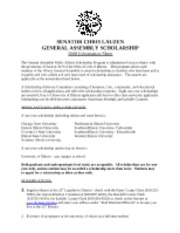 Scholarship Application Form - 2008