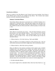 law 120 criminal law lecture notes 4 on Classification of Offences